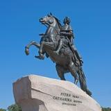 Brązowy jeździec, Świątobliwy Petersburg Zdjęcie Stock