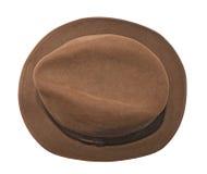 brązowy kapelusz obraz stock