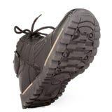 brązowy kolor buty człowiek jest od ciemnej strony lewą rzemienną zimy Obrazy Royalty Free