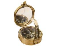 Brązowy kruszcowy stary kompas Obrazy Stock
