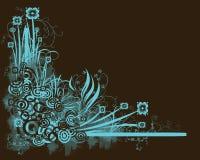 brązowy kwiecisty niebieski ilustracji