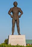 Brązowy Pomnikowy Honoruje John Wareing na Virginia plaży Boardwalk Zdjęcia Stock