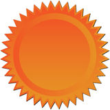brązowy starburst ilustracji