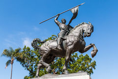 Brązowy statuy ` El Cid Campeador ` w balboa parku zdjęcia stock