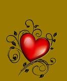 brązowy tła serce Fotografia Stock