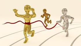 brązowy złota srebra sprint Zdjęcia Stock
