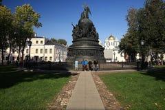 Brązowy zabytek milenium Rosja, czerep drugi rzeźbiony rejestr Fotografia Royalty Free
