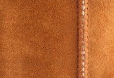 brązowy zamsz szwu tło Zdjęcie Stock