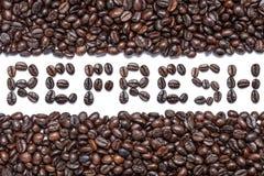 brązowy zamykają fasoli kawy, Obraz Stock