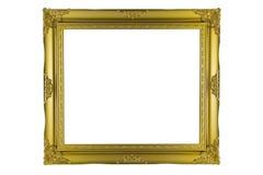 Brązu i złota Ramowy rocznik odizolowywający na białym tle Fotografia Royalty Free