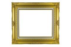 Brązu i złota Ramowy rocznik odizolowywający na białym tle Zdjęcie Royalty Free
