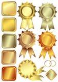 brązu ram złocisty setu srebro ilustracji