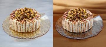 bräcklig bana för cakeclippingmuttrar Arkivfoto