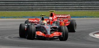 Br di Vodafone McLaren Mercedes MP4-22 Lewis Hamilton Fotografie Stock