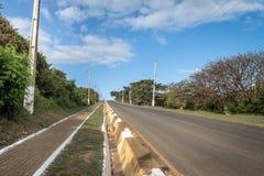 BR-363 droga - Fernando De Noronha, Pernambuco, Brazylia Obrazy Stock