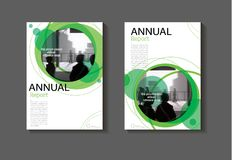 Br för abstrakt begrepp för bokomslag för grön design för cirkelabstrakt begreppräkning modern Royaltyfria Bilder