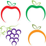 Bär frukt logoen Fotografering för Bildbyråer