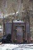 Brûleur à charbon de bois Image stock