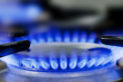 Brûleur à cuisinière à gaz Photos libres de droits