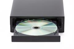 Brûleur au CD/DVD sur le fond blanc Images libres de droits