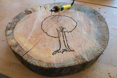 Brûleur en bois Photo libre de droits
