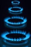 Brûleurs à gaz Photographie stock libre de droits