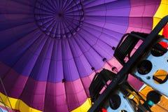 Brûleurs à l'intérieur d'un ballon à air chaud Image libre de droits