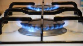Brûleurs du fourneau de cuisson 2 avec le changement de foyer banque de vidéos