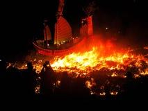 Brûlez le bateau de seigneur Images libres de droits