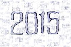 Brûlez le numéro de papier 2015 Photos libres de droits