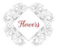 br?llop f?r romantiskt symbol f?r inbjudan f?r bakgrundseleganshj?rtor varmt Ram med text och blommor Vektorillustrationmall _ wa royaltyfri illustrationer