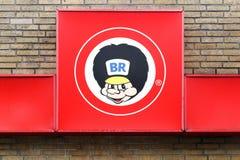 BR logo na ścianie Obrazy Stock