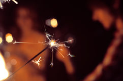 Brûlure de fête de cierges magiques Image libre de droits