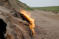 Brûlure de gaz Photos libres de droits