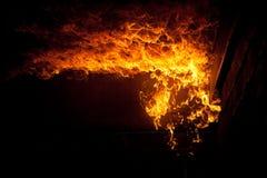 Brûlure du feu Images libres de droits