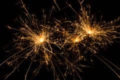 Brûlures de cierges magiques Images stock