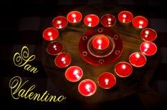 Brûlures de coeur avec amour pour la Saint-Valentin Images stock