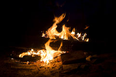 Brûlures du feu Images libres de droits