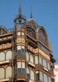 Br?ssel, Belgien: Fassade Art Nouveau Musical Instruments Museums, sobald ein Kaufhaus genannt Old England lizenzfreie stockfotos