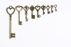 Brązów klucze Zdjęcia Stock