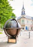 Brązowa kula ziemska Jurmala, Latvia Zdjęcia Royalty Free