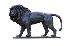 Brązowa lew statua Zdjęcie Stock