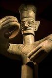 brązowa porcelanowa sanxingdui Sichuan statua wysoka Obrazy Stock
