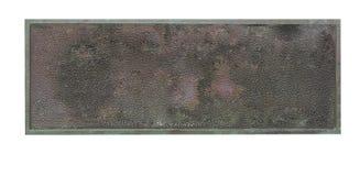 brązowa stara plakieta Obraz Stock