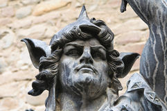 Brązowa statua Grazzano Visconti Obrazy Stock