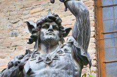 Brązowa statua Grazzano Visconti Fotografia Royalty Free