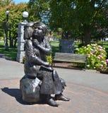 Brązowa statua honoruje renomowanego Kanadyjskiego artysty Emily Carr Obrazy Royalty Free