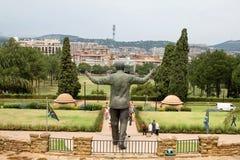 Brązowa statua Nelson Mandela Obraz Royalty Free