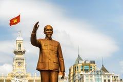 Brązowa statua prezydent Ho Chi Minh, Wietnam Obrazy Royalty Free