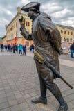 Brązowa statua w Alba Iulia, Rumunia Zdjęcia Royalty Free
